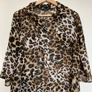 F21 Leopard Printed Blouse